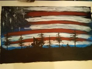 American Flag Acrylic Painting (Homemade) for Sale in Joplin, MO