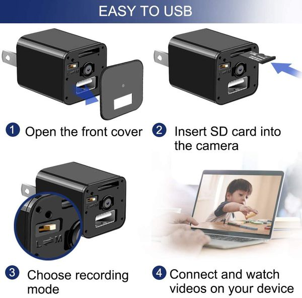 USB Charger Camera Hidden Night Vision Security Cam Motion Detection 1080P HD - FREE SHIPPING