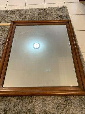 Free wood mirror for Sale in Matawan, NJ