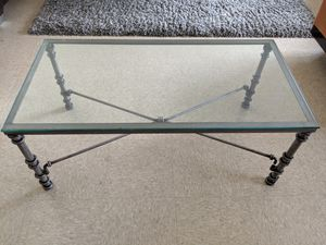 Metallic brushed coffee table for Sale in New York, NY