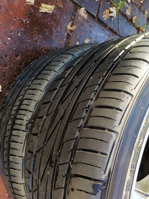 Falken tires mounted on Drifz Jade custom rims.
