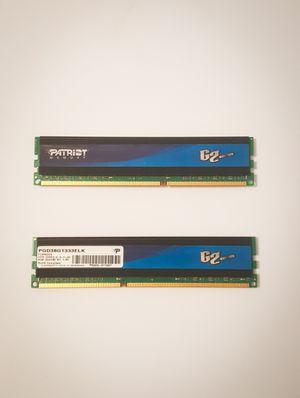 Patriot DDR3 2x4gb 1333Mhz RAM for Sale in Winston-Salem, NC