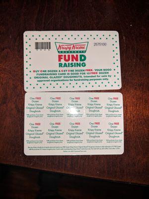 3-Krispy Kreme Buy one get one free cards for Sale in Pico Rivera, CA