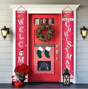 Welcome Merry Christmas Indoor Outdoor Banner for Sale in Grand Prairie, TX