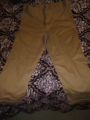 Size 14 husky boys tan dress slacks for Sale in San Angelo, TX