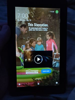 WORKING Amazon fire tablet with wall plug and NEW micro USB charging cord for Sale in Eugene, OR