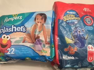 Huggies and Pampers Swimming Diapers for Sale in Lisle, IL