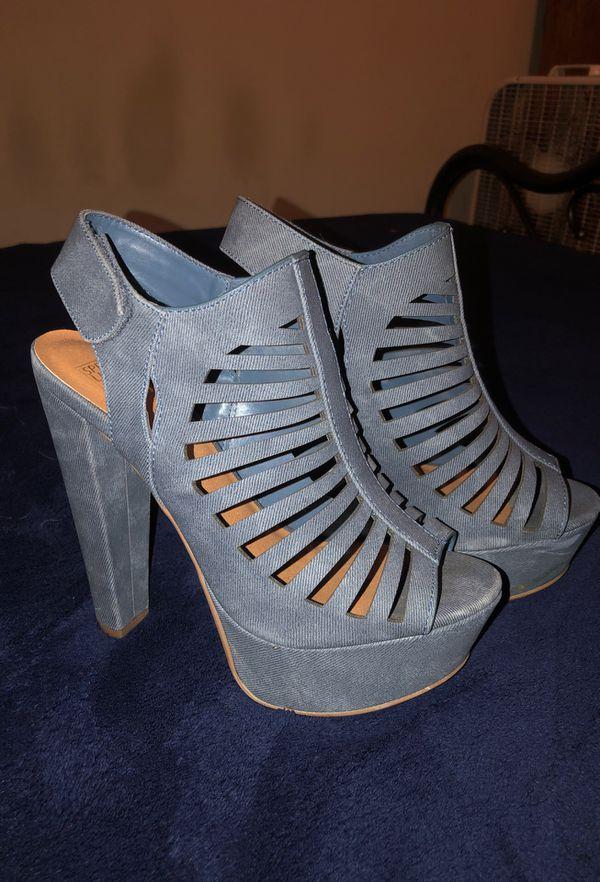 Blue Demin size 8.5 Heels