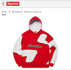 Supreme hooded Big S size L for Sale in Silver Spring, MD