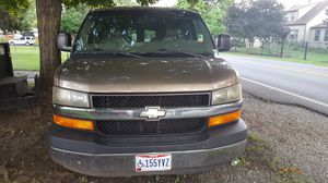 I am selling my 2004 Chevy Express Handy Cap equipped van with lift and chair low miles 109000 thousand real nice for Sale in Columbus, OH