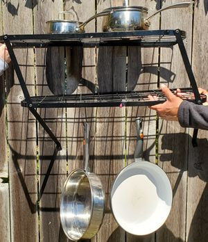 Pots and pan shelves with hooks for Sale in Gig Harbor, WA