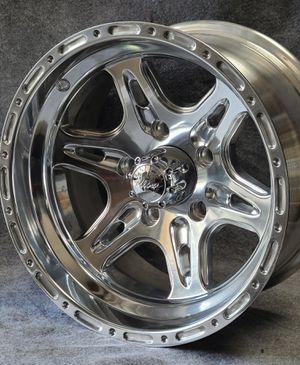15x8 Aluminum polish wheels Jeep Wranglers for Sale in Corona, CA
