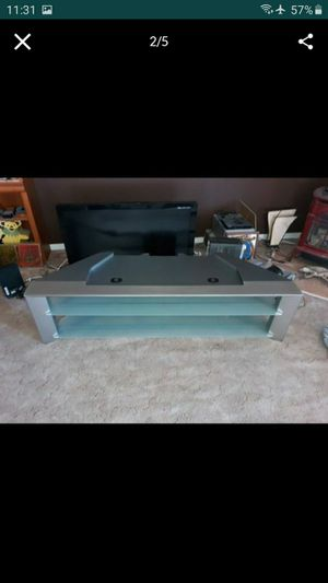 "Large 66"" TV Stand With Glass Shelves for Sale in Henderson, NV"