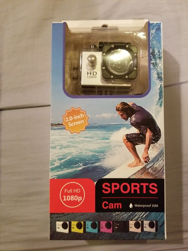Silver 1080p HD Action Waterproof camera