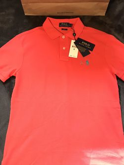 Ralph Lauren 🇺🇸 Polo 🐎 Solid Coral Shirt Sz M for Sale in Dallas,  TX