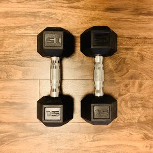 Two 15 lb Dumbbell Weights for Sale in Pittsburgh, PA