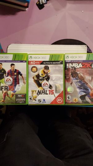 XBOX 360 NBA 2K15,NHL 15, MADDEN 15 for Sale in Plainfield, IL
