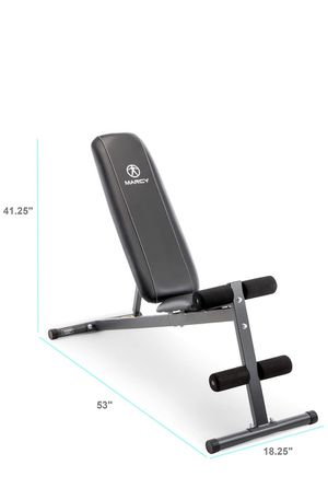 Exercise Utility Bench for Upright, Incline, Decline, and Flat Exercise SB-261W for Sale in Bloomingdale, IL
