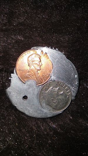1971 Dime w/errors and 1994 D penny sealed in silver based metals!!! for Sale in Wichita, KS