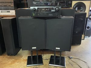 DENON SURROUND SOUND STREAMING MUSIC HDMI SYSTEM WITH BLUETOOTH AND A SAMSUNG HDMI CD PLAYER AND A GREAT SOUNDING PAIR OF ELECTRO VOICE FR10 2B SPEAK for Sale in West Covina, CA