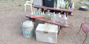 Antique bottles cooler water juggallon coke and milk jugs for Sale in Red Oak, TX