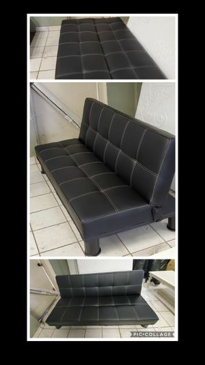 All leather futon for Sale in Phoenix, AZ