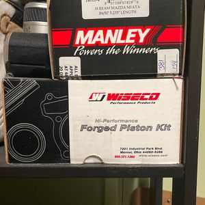 Miata 1.6 Forge pistons and rods for Sale in Buena Park, CA