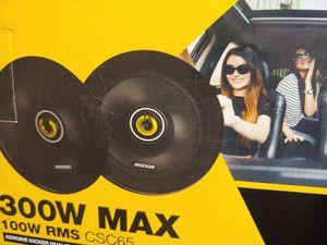Car speakers : Kicker 6.5 inch 2 way 300 watts car speakers for Sale in Bell Gardens, CA