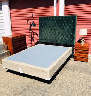 West elm Queen Bedroom set, frame, box spring with dresser & nightstand for Sale in San Diego, CA