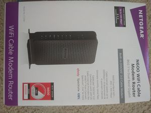 NETGEAR N600 (8x4) WiFi DOCSIS 3.0 Cable Modem Router (C3700) Certified for Xfinity from Comcast, Spectrum, Cox, Spectrum & more for Sale in Fremont, CA