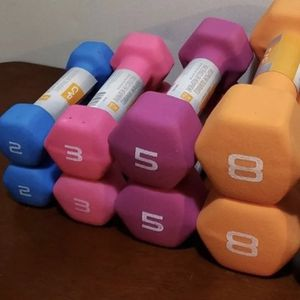 ddumbbell Swt Neorprene 2 X 2lb Dumbbells = 4lb 2 X 3lb Dumbbells = 6lb 2 X 5lb Dumbbells = 10lb 2 X 8lb Dumbbells = 16lb 2 X 10lb Dumbell for Sale in Tempe, AZ