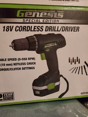 Genesis 18V cordless Drill without tips for Sale in Wichita, KS