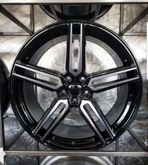 $999 20 inch staggered black machined rims for Sale in Chandler, AZ