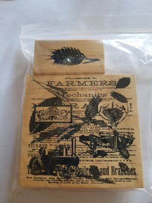 Vintage farm themed rubber stamp set for Sale in Chicago, IL