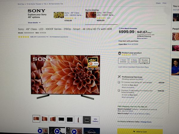 """Sony 4K ultra HD Smart TV 49"""""""