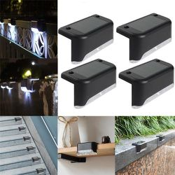 4 Pack Solar Deck Lights Waterproof Led Solar Lamp Outdoor Warning Warm Light for Steps Decks Pathway Yard Stairs Fences Tent Camping for Sale in Santa Ana,  CA