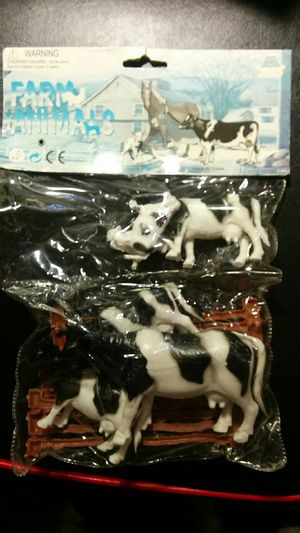 Plastic Cows with Fence - Unopened! for Sale in San Francisco, CA