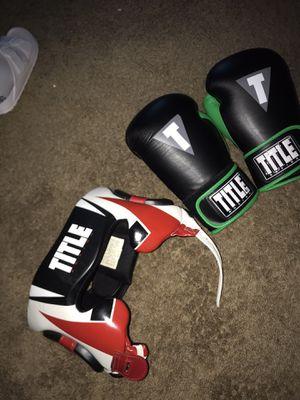 Boxing Headgear & Gloves! for Sale in McDonough, GA