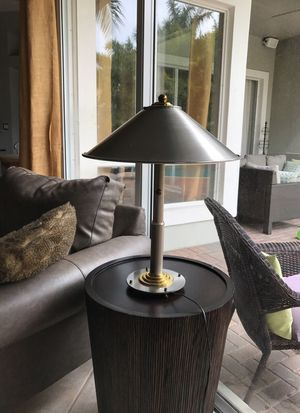 Silver and gold modern table lamp for Sale in Boca Raton, FL