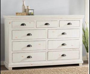 Farmhouse wood white dresser - Excellent Condition for Sale in Austin, TX
