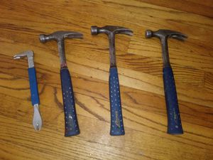 3 EST WING HAMMERS AND NAIL REMOVER for Sale in Lynn, MA
