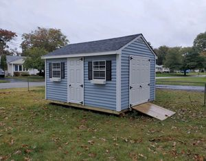 New 10' x 14' Vinyl A Frame Shed with Extra Large Windows for Sale in Rehoboth, MA