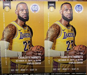 Lakers tickets $550 for Sale in Norwalk, CA