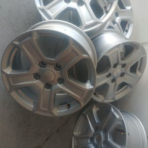 Like new set of five 5x5 17x7 jeep wheels. for Sale in Henderson, NV