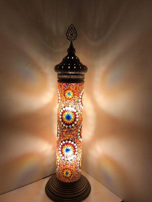 Handmade Turkish Mosaic Cylindrical Floor Lamp. for Sale in Brooklyn, NY