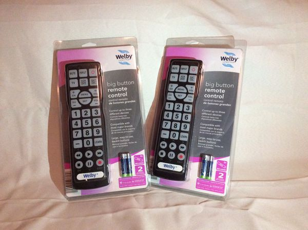Welby Universal Large Big Button Remote