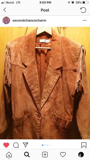 Vintage Suede Jacket with Fringes for Sale in Greensboro, NC