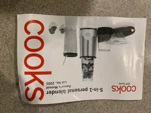 Cooks 5 in 1 personal blender for Sale in Clearwater, FL