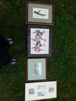 Various framed art works. for Sale in Groveport, OH