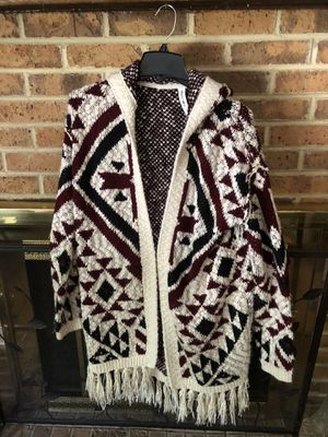Juniors Med long Aztec vibe sweater with fringe for Sale in Jamison, PA